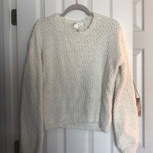 White Sweater with gold threading